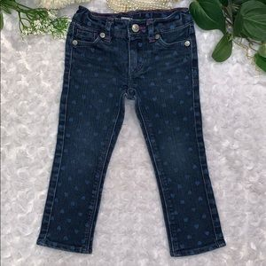 Levi's Skinny Heart Print Jeans Size 2T